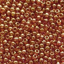 Toho 11/0 Seed Beads Gold Lustred Transparent Pink 421 - 10 grams